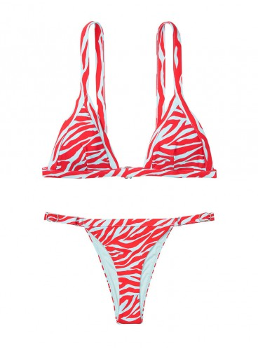 NEW! Стильный купальник Wide Set Triangle от Victoria's Secret - Red Flame