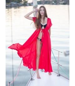 Длинная пляжная туника be Angel Red