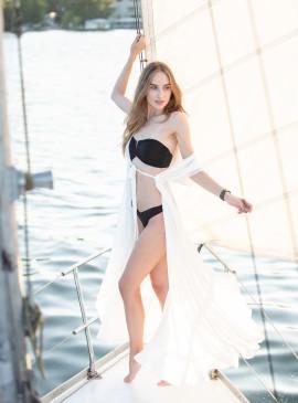 Фото Длинная пляжная туника be Angel White