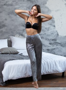 Пижамные штаники Shine Pleat от Victoria's Secret - Pure Black