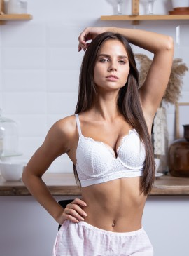 Фото Бюстгальтер Perfect Shape Bra из серии The T-Shirt Logo от Victoria's Secret - White
