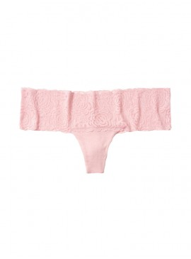 Фото Трусики-стринги Victoria's Secret PINK из коллекции Lace Trim - Chalk Rose