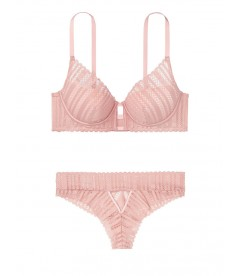 Комплект бeлья Lace Lightly Lined Plunge Bra из коллекции Luxe Lingerie от Victoria's Secret - Demur