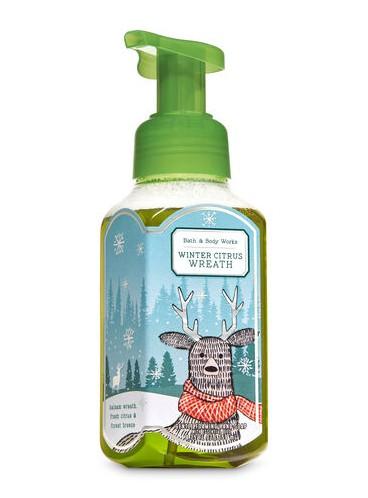 Пенящееся мыло для рук Bath and Body Works - Winter Citrus Wreath