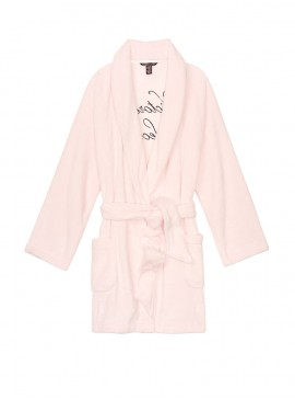 Фото Плюшевый халат Plush Logo от Victoria's Secret - Mauve Chalk