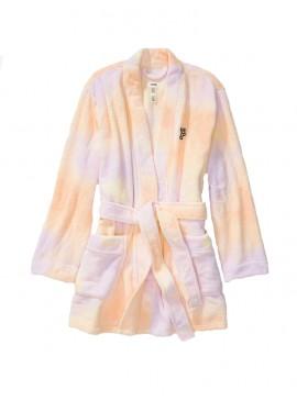 Фото Плюшевый халат Teddy Robe от Victoria's Secret PINK - Femme Tie Dye