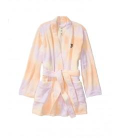 Плюшевый халат Teddy Robe от Victoria's Secret PINK - Femme Tie Dye