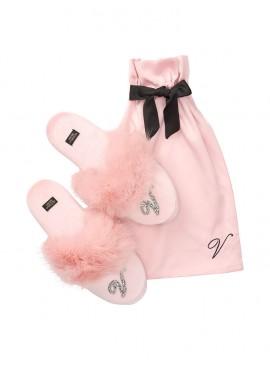 Фото Мягенькие тапочки от Victoria's Secret + мешочек в подарок - Dusk Pink