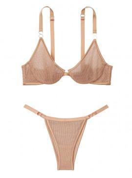 Фото Комплект бeлья Chainmail Demi из коллекции Luxe Lingerie от Victoria's Secret - Gold Chain