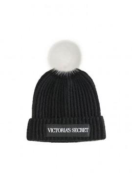 Фото Стильная шапка от Victoria's Secret - Logo Black