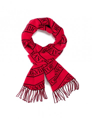 Тёплый шарф от Victoria's Secret - Scarlet Black Logo