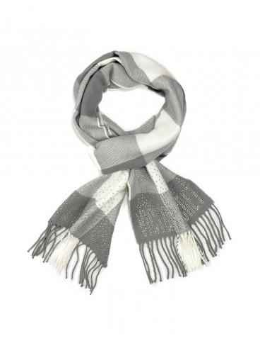 Тёплый шарф от Victoria's Secret - White & Gray