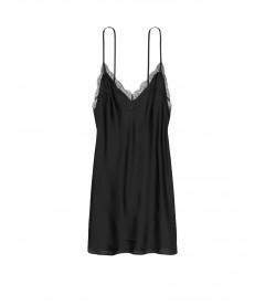 Ночная рубашка из коллекции Satin & Lace от Victoria's Secret - Black