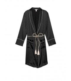 Роскошный халат Tassel-Tie Robe от Victoria's Secret - Pure Black
