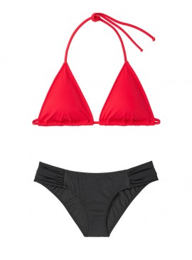 Фото NEW! Стильный купальник Triangle от Victoria's Secret - Red-Black