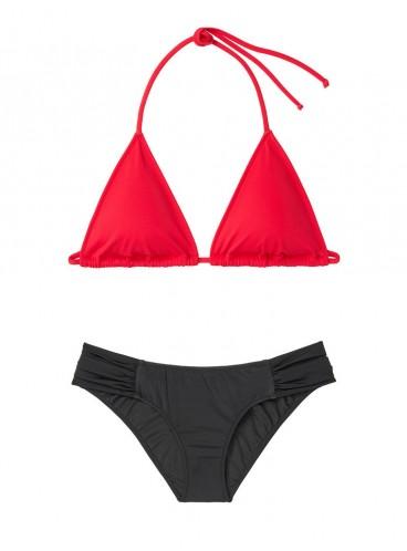 NEW! Стильный купальник Triangle от Victoria's Secret - Red-Black