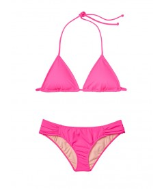 NEW! Стильный купальник Triangle от Victoria's Secret - Shocking Pink
