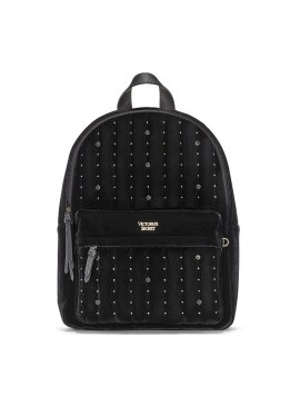 Фото Стильный бархатный рюкзак Victoria's Secret - Black