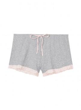 Фото Пижамные шорты Ribbed Ruffle от Victoria's Secret - Heather Grey