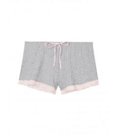 Пижамные шорты Ribbed Ruffle от Victoria's Secret - Heather Grey