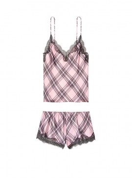 Фото Пижамка из коллекции Satin & Lace от Victoria's Secret - Dusk Pink Plaid