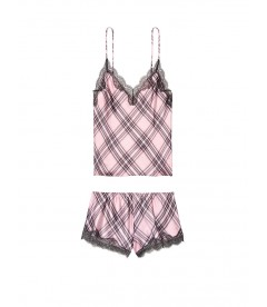 Пижамка из коллекции Satin & Lace от Victoria's Secret - Dusk Pink Plaid