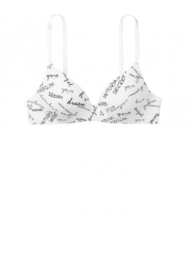 Бюстгальтер Lightly Lined Wireless из серии The T-Shirt от Victoria's Secret - White Autograph