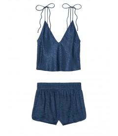 Пижамка из коллекции Satin & Lace от Victoria's Secret - Ensign Blue