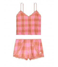 Пижамка из коллекции Flannel Sleep от Victoria's Secret - Pink Shimmery Plaid