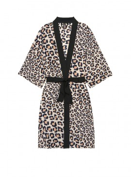 Фото Роскошный халат Handkerchief Kimono от Victoria's Secret - Natural Leopard
