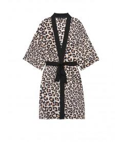 Роскошный халат Handkerchief Kimono от Victoria's Secret - Natural Leopard