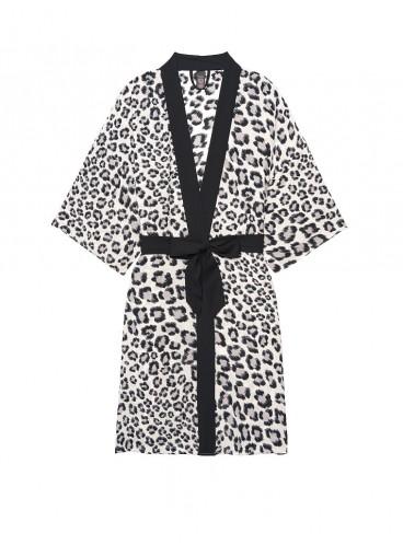 Роскошный халат Handkerchief Kimono от Victoria's Secret - Coconut White Leopard