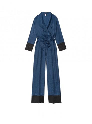 Сатиновый ромпер Zebra Jumpsuit от Victoria's Secret - Ensign Blue