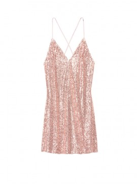 Фото Ночная рубашка из коллекции Sequin Slip от Victoria's Secret - Rose Sequin