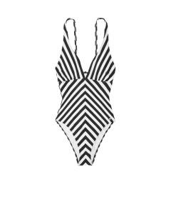 Купальник-монокини V-neck One-piece от LASCANA - Black White