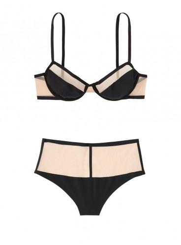 Комплект бeлья Unlined Mesh Demi от Victoria's Secret - Black