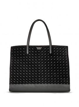 Фото Стильная бархатная сумка Studded от Victoria's Secret - Black