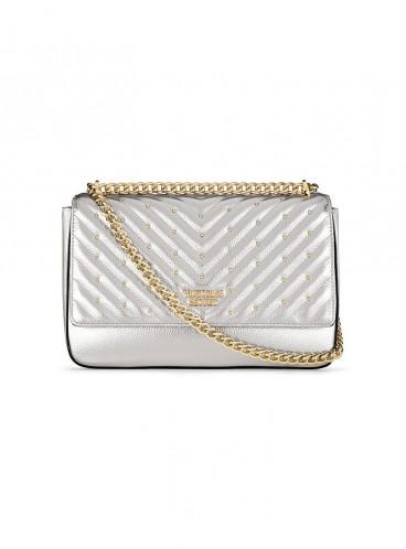 Стильная сумка Studded V-Quilt Bond Street от Victoria's Secret - Silver