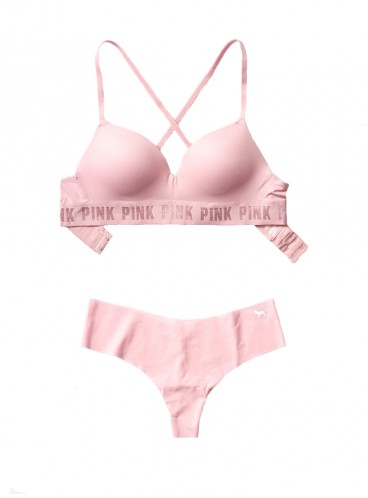 Комплект бeлья от Victoria's Secret PINK - Chalk Rose
