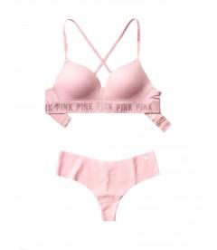 Комплект бeлья от Victoria's Secret PINK - Chalk Rose