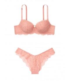 Комплект белья Lightly Lined Demi от Victoria's Secret - Rose Tan Embellished