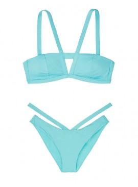 Фото NEW! Стильный купальник Cutout V-strap Bandeau от Victoria's Secret - Blue Sage