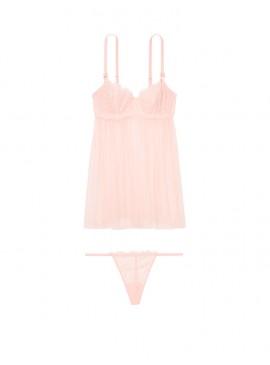 Фото Шикарный пеньюар Wicked Unlined Sheer Babydoll от Victoria's Secret - Purest Pink