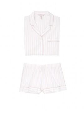 Фото Пижамка с шортиками Victoria's Secret из сериии Sleepsoft - White Pink Fizz Stripe