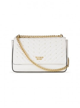 Фото Стильная сумка Studded V-Quilt Bond Street от Victoria's Secret - White