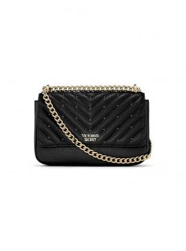 Фото Стильная сумка Studded V-Quilt Small Bond Street от Victoria's Secret - Black Gold