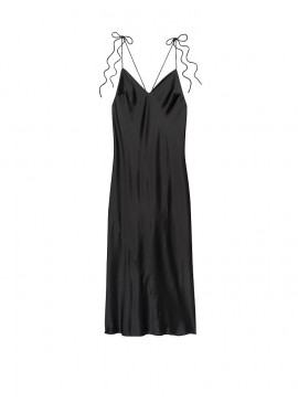 Фото Ночная рубашка из коллекции Satin Slip Dress от Victoria's Secret - Black