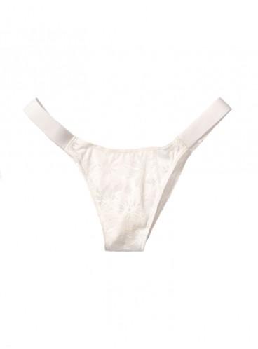 Кружевные трусики Brazilian от Victoria's Secret PINK - White