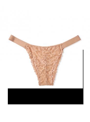 Кружевные трусики Brazilian от Victoria's Secret PINK - Brown