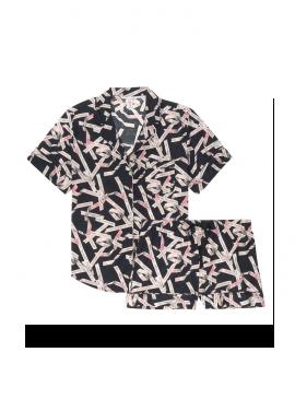 Фото Пижамка с шортиками Victoria's Secret из сериии Cotton Short - Black